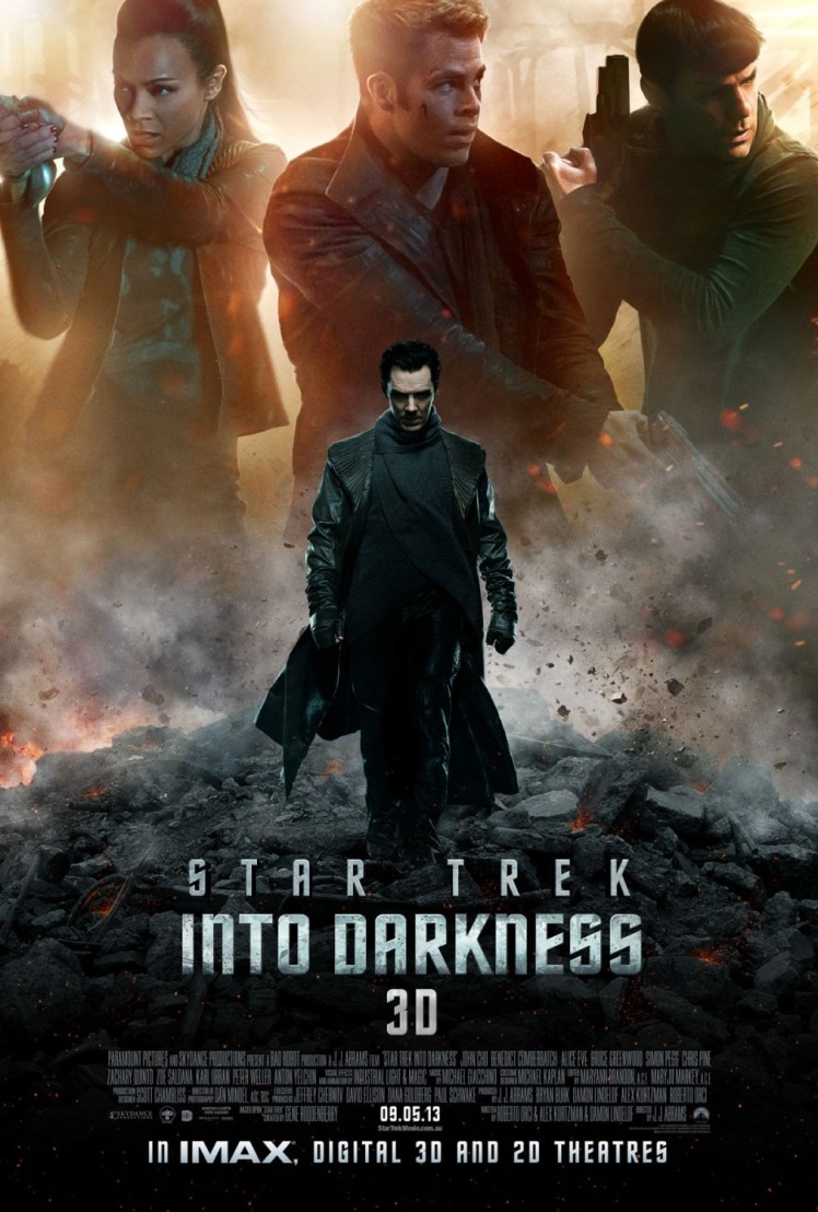 Benedict Cumberbatch Star Trek Into the Darkness Poster